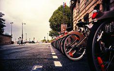 A França de bicicleta.