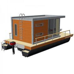 Mobil pontonhusbåt PH20-2 för ett friare sjöliv   AlfaBryggan AB