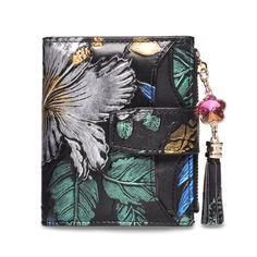e164c7d369c2 US$31.14 - BRENICE Vintage 11 Card-slots Floral Coin Purse Wallet Black  Wallet,
