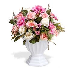 Arranjo de flores artificiais mistas cachepot classico provençal 40 x28…