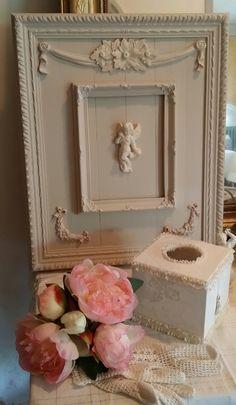 Cadre photo roses Ornament blanc beige-Cadre photo shabby Nostalgie Maison de campagne