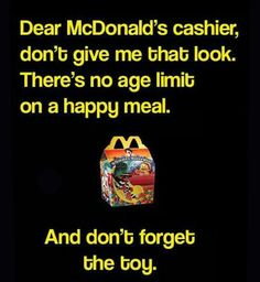 There's No Age For A Happy Meal