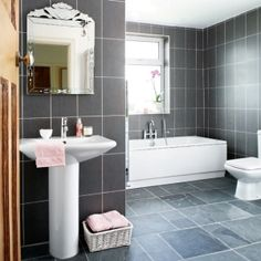Grey bathroom tiles by greyish