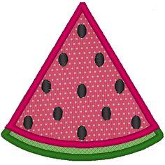 Watermelon Embroidery Applique File. $2.00, via Etsy.