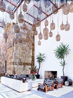 George Clooney's Mexican inspired patio