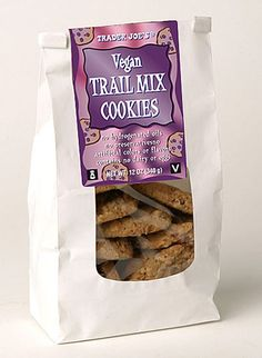 trader joe's vegan trail mix cookies! love these things!