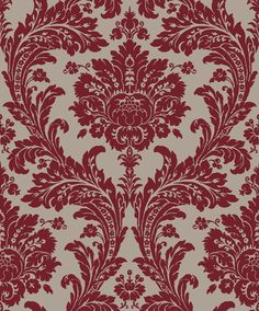 Red Damask wallpaper. Sketch Twenty3: Regency - available from Blendworth.