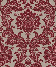 Red Damask wallpaper. Sketch Twenty3: Regency - available from Blendworth.
