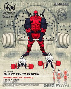 leg exercise: deadlifts deadpool
