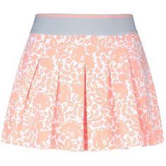 Stella Mccartney Tennis Australia Skirt ($53) ❤ liked on Polyvore featuring skirts, bottoms, jupes, pink, elastic waist skirt, stella mccartney skirt, flower print skirt, stella mccartney et peach skirt