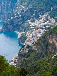 Positano, along the Amalfi Coast, one of the most beautiful drives I've done..