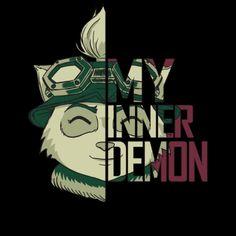 League of Legends: #Teemo t-shirt.