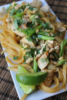 Simple Pad Thai--enjoy the taste of Pad Thai made in your own kitchen in less than 30 minutes. This sweet and sour Thai sauce is simple to make and uses basic ingredients you already have in your fridge. Pad Thai without the fuss makes for a family friendly recipe everyone will love! By Deals to Meals
