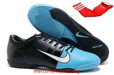 Nike GS Mercurial Glide III IC Indoor Soccer Shoes - Black Blue White