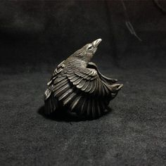 925 Sterling Silver Raven Ring by BroncoManor on Etsy https://www.etsy.com/listing/232691700/925-sterling-silver-raven-ring