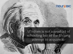 """Wisdome is not a product of schooling but of the lifelong attempt to acquire it."" Albert Einstein"