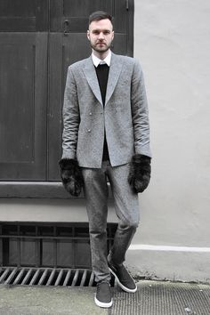 Grey Dress Pants Outfit Men