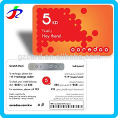 paper telecom mobile voip recharge card $0.01~$0.05