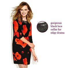 Coming Fall 2014 - mark Dark Blooms Dress #fallfashion #markfall #fallflorals