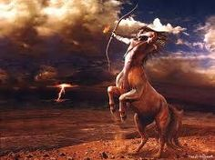 Centaur - A creature with the upper half of a human and the lower half of a horse. Commonly uses a bow & arrow to fight