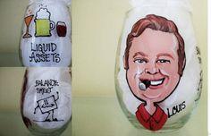 ACCOUNTANT Custom Caricature Hand Painted  Glass Gift Cartoon Likeness Portrait Personalized