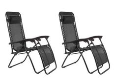 Summer deals:  Zero Gravity 2 Pack Reclining Pool Patio Outdoor Lounge Chairs (Black)  - Fully adjustable reclining chair;  Cushioned headrest ; List Price:$179.00  - Price: $119.99  FREE Shipping  - You Save:  $59.01 (33%)