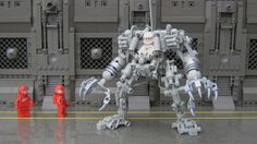 LEGO Exo Suit.  The link is to Cuusoo, where you can vote to suggest LEGO uses this as one of their kits.