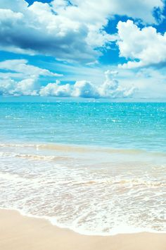 Someday, I need to get to a beach with white sand and clear blue water like this!