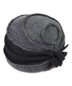 Look at this #zulilyfind! Black Blossom Wool Cloche #zulilyfinds