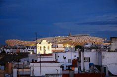 Atardecer en el ROOF SEVILLA Estamos arriba. Tu terraza con vistas - Calle Trajano, 15, 41002 #Sevilla | #Seville #Spain #tapas #visitspain