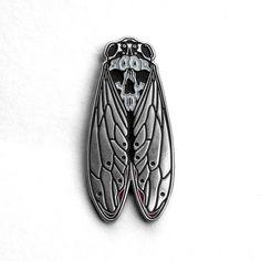 Death's-Head Cicada Enamel Pin by Bird Ov Prey