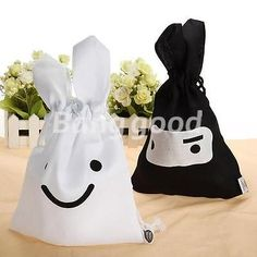 Home Cleaning Organizer 1 PCS Lovely Cute Rabbit Cosmetic Case Travel Storage Bag Pouch Black White #Affiliate