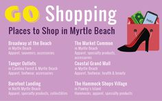 Myrtle Beach Vacation Guide - Go Shopping