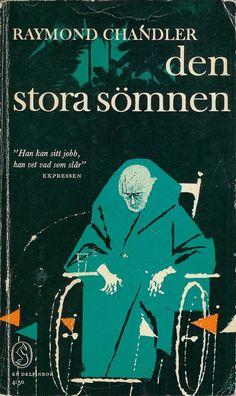 Den stora sömnen, cover by Martin Gavler, printed 1963. A Swedish edition of The Big Sleep by Raymond Chandler.