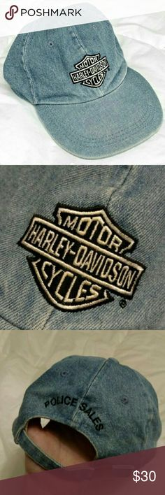 Vintage Harley Davidson Dad Cap Hat Jean Rad washed denim Harley Davidson vintage dad cap.  Washed and ready to go. Great vintage condition, free of any major flaws or damage.  Tags HD moto motorcycle motor cycles bikes biker grunge 90s tumblr retro Jean denim urban outfitters Tommy ck Calvin Klein 1975 trendy unique one of a kind embroidered patch street wear casual Harley-Davidson Accessories Hats