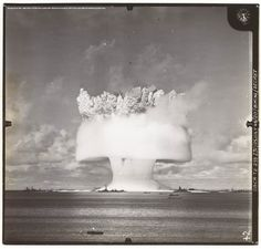 MHS Collections Online: Second Bikini Atoll atomic bomb test [2 seconds after detonation], 25 July 1946