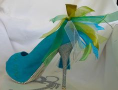 Calligraphy shoe made by Cecile Walters.  See more at www.letterdance.co.za
