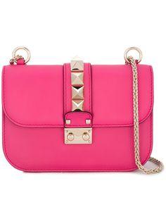 Valentino Bolsa tiracolo de couro modelo 'Glam Lock'