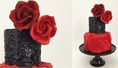 edible sequins cake by Eileen Fry Cakes, Kara's Couture Cakes sequins tutorial