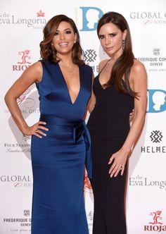 Pin for Later: Victoria Beckham et Eva Longoria Passent une Soirée Entre Copines au Global Gift Gala