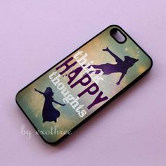 Peter Pan Think Happy Thoughts Things Wendy Fly Cute iPhone 4 / 4S / 5 Case HT45