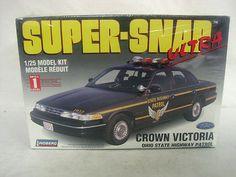 Lindberg 1994 Ford Victoria Ohio State Highway Patrol Police Car 1 25 Model Kit | eBay