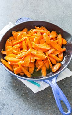 Glazed Carrots. With only one skillet and a mere 15 minutes, you can transform humble bagged carrots into a first-class side dish.