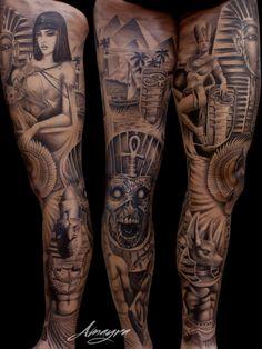 New tattoo fonts styles handwriting ideas - Tattoo New Egyptian Tattoo Sleeve, Leg Sleeve Tattoo, Leg Tattoo Men, Best Sleeve Tattoos, Sleeve Tattoos For Women, Tattoo Sleeve Designs, Arm Tattoo, Best Tattoo Designs, Bein Band Tattoos