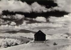 Minor White Barn and Clouds, in the Vicinity of Naples and Dansville, New York 1955