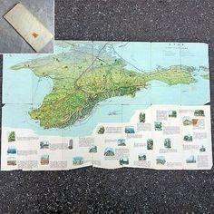 Crimea Vintage Map of Crimean Peninsula 1963 Ukraine by MyWealth