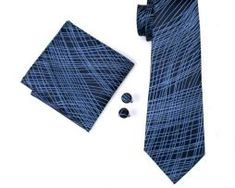 Pánsky kravatový set - kravata + manžety + vreckovka s modrým vzorom0 Tie, Accessories, Fashion, Moda, La Mode, Cravat Tie, Fasion, Ties, Fashion Models