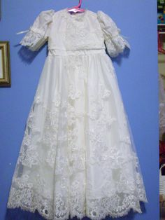 another christening gown from a wedding dress
