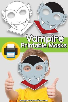 Printable Vampire Mask Template