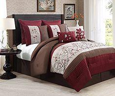 Avondale Manor Sakura 8 Piece Embroidery Comforter Set, Queen, Red, http://www.amazon.com/dp/B00WXFPMSA/ref=cm_sw_r_pi_awdm_x_8pI6xbNV9FZEF